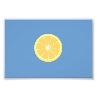 slice of lemon photo print