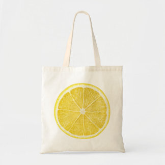 Slice of lemon tote bag