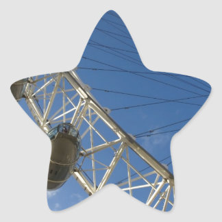 Slice of London Eye Star Sticker