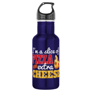 Slice of Pizza w/ Extra Cheese 532 Ml Water Bottle