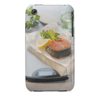 Slice of salmon on weight scale iPhone 3 cover