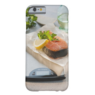 Slice of salmon on weight scale barely there iPhone 6 case