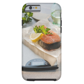 Slice of salmon on weight scale tough iPhone 6 case
