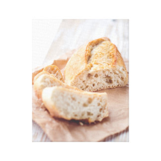 Slice the Bread Stretched Canvas Print