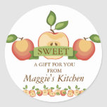 Sliced apples pies canning fruit lovers round stickers