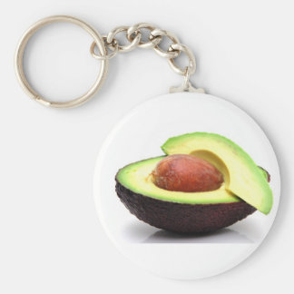 Sliced Avocado Basic Round Button Key Ring