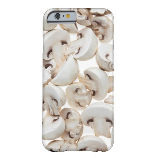 Sliced button mushrooms (agaricus bisporus), on barely there iPhone 6 case