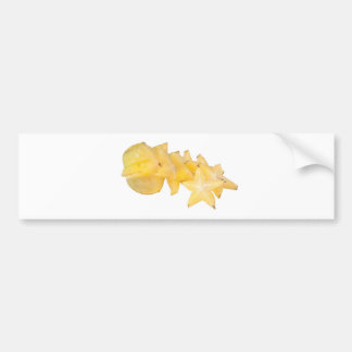 Sliced carambola car bumper sticker