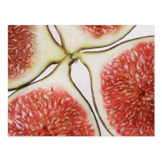 Sliced figs, close-up post card