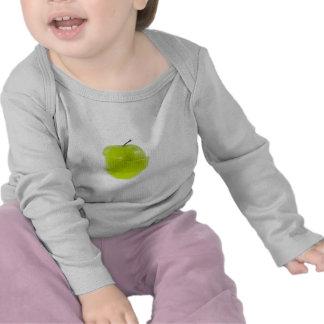 Sliced green apple tee shirt