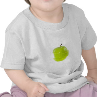 Sliced green apple tshirts