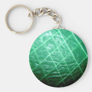Sliced Green Wax Basic Round Button Key Ring