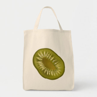Sliced Kiwi Design Tote Bag