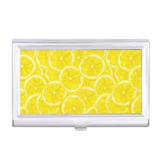 Sliced Lemon Pattern Business Card Holder