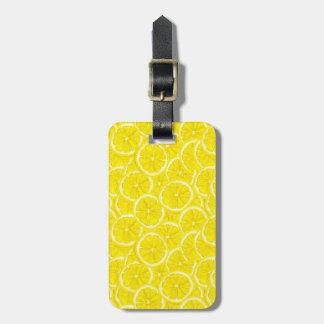 Sliced Lemon Pattern Luggage Tag