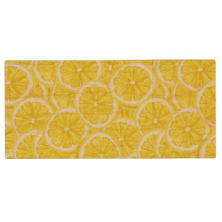 Sliced Lemon Pattern Wood USB 2.0 Flash Drive