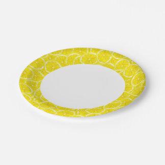 Sliced Lemon Pattern Paper Plate