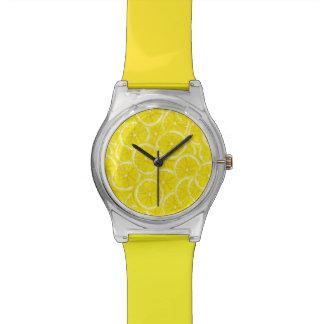Sliced Lemon Pattern Wristwatches