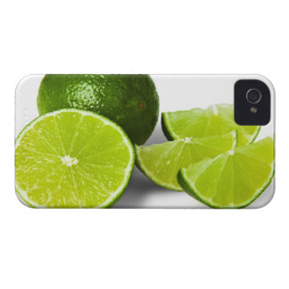 Sliced lime wedge, on white background, cut out iPhone 4 case