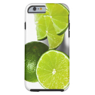 Sliced lime wedge, on white background, cut out tough iPhone 6 case