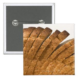 Sliced loaf of bread 15 cm square badge