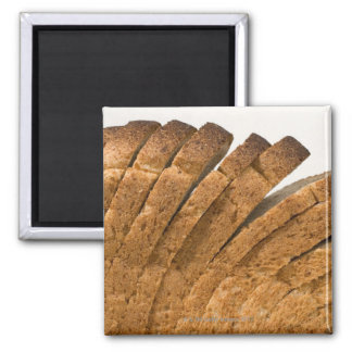 Sliced loaf of bread magnet