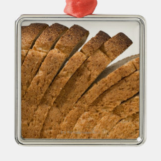 Sliced loaf of bread Silver-Colored square decoration
