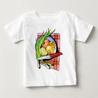 Sliced Onions and Potatoes Baby T-Shirt