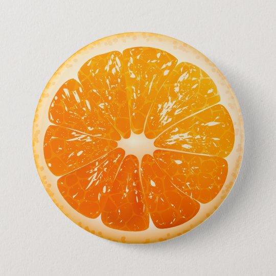 Sliced Orange 7.5 Cm Round Badge