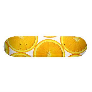 Sliced orange custom skate board