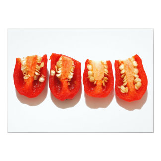 Sliced peppers 13 cm x 18 cm invitation card
