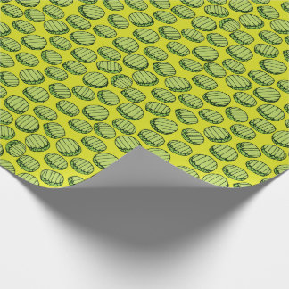 Sliced Pickles Pattern Wrapping Paper