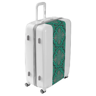 """""""Sliced pomegranat"""", organic forms, mint and gray Luggage"""