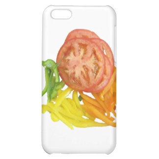 sliced tomato and peppers iPhone 5C covers