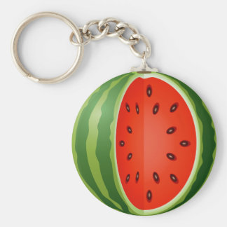 SLICED WATERMELON BASIC ROUND BUTTON KEY RING