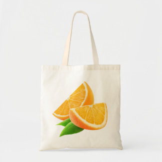 Slices of orange budget tote bag