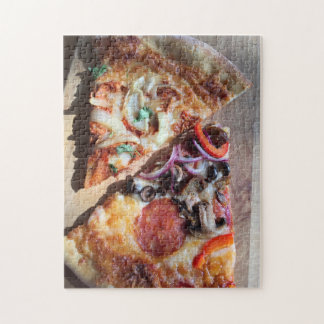 Slices of pizza jigsaw puzzle