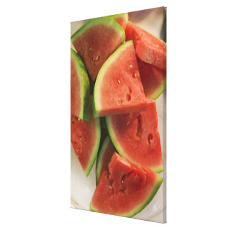 Slices of watermelon canvas print