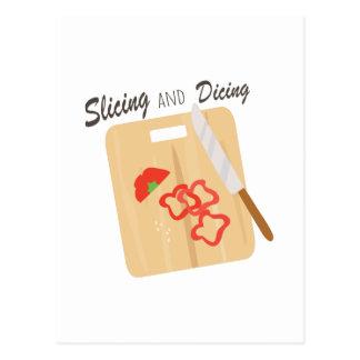 Slicing And Dicing Postcard