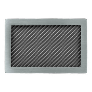 Slick Black Carbon Fibre Base Rectangular Belt Buckles