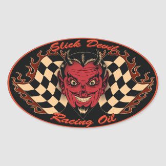 Slick Devil Motor Oil Sticker