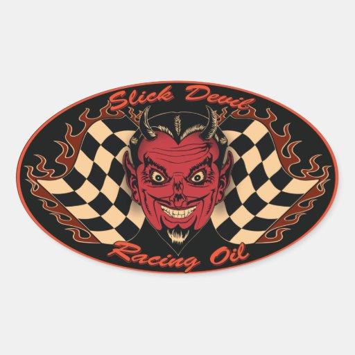 Slick Devil Motor Oil Sticker