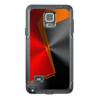 Slick Geometric Metallic Red Black & Orange GR2 OtterBox Samsung Note 4 Case