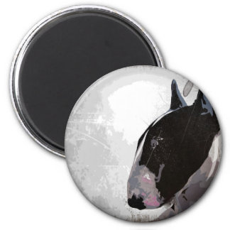 Slick urban English Bull Terrier  Fridge magnet