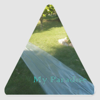 Slide Paradise Triangle Stickers