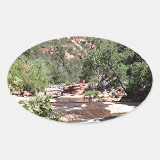 Slide Rock State Park, Arizona, USA Oval Sticker