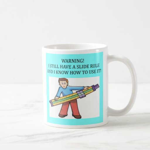 slide rule math humour, slide rule math humour basic white mug