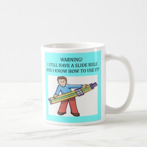 slide rule math humour, slide rule math humour basic white mug