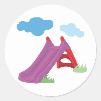 Slide Round Sticker