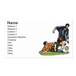 Slide Tackle Business Card Template
